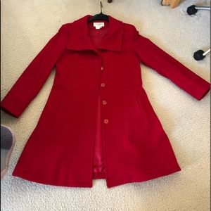 Jackets & Blazers - Red cashmere wool blend coat